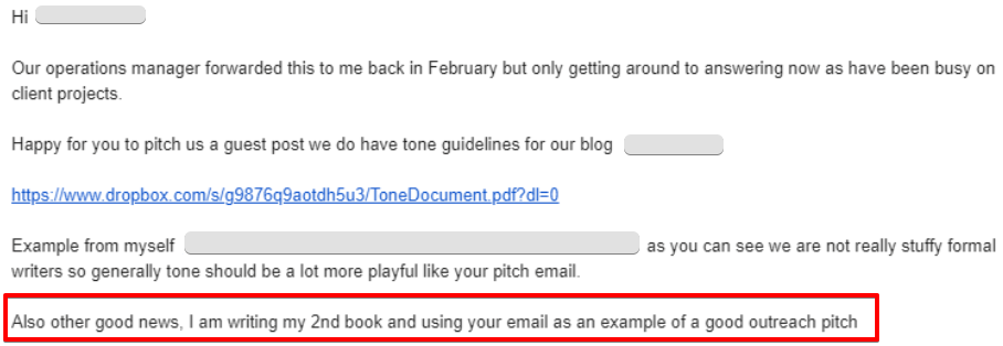 example of a good guest post pitch email_seo for saas guide