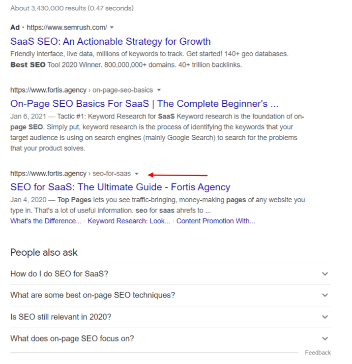 site links search result example
